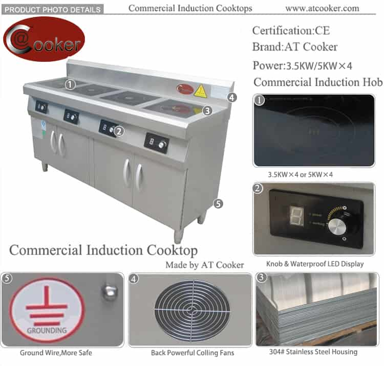 induction stove for commercial use