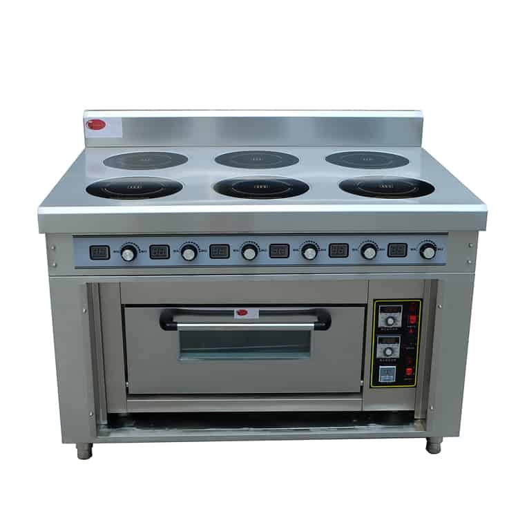 commercial induction range with oven BZT-AZHB1M750