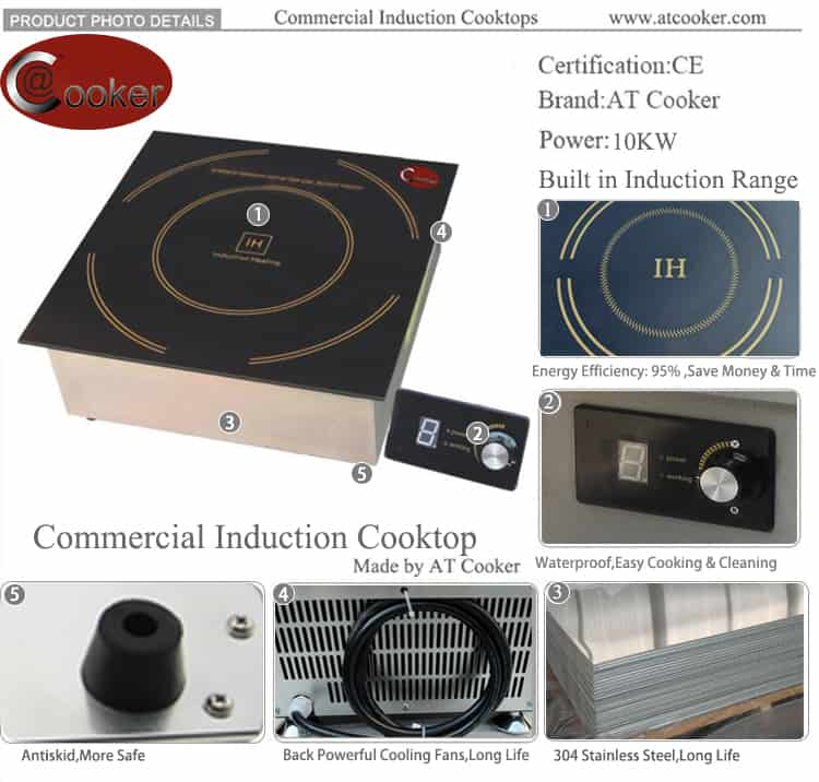 commercial induction stove