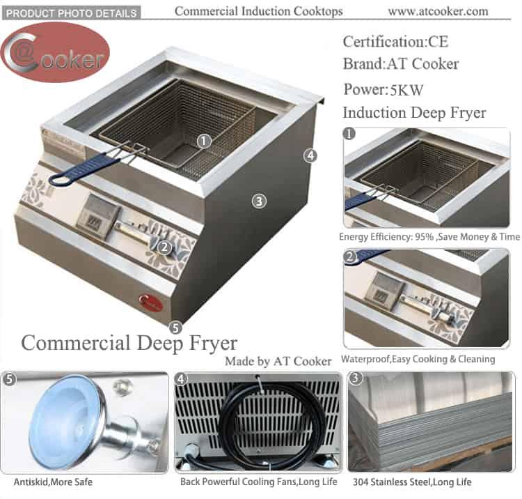 single basket commercial deep fryer 5000w commercial deep fryer