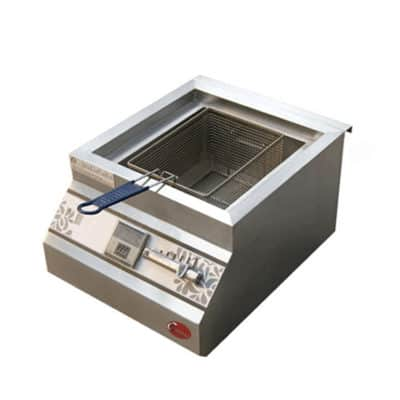 single basket commercial deep fryer 5000w commercial deep fryer