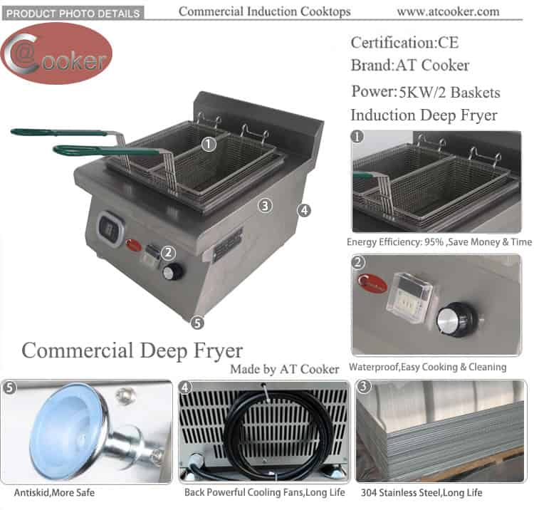 restaurant deep fryer induction