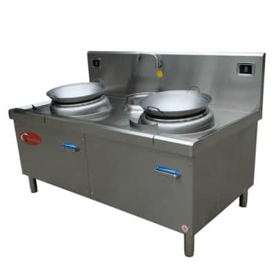2 burner wok range station 2 burner wok cooker station
