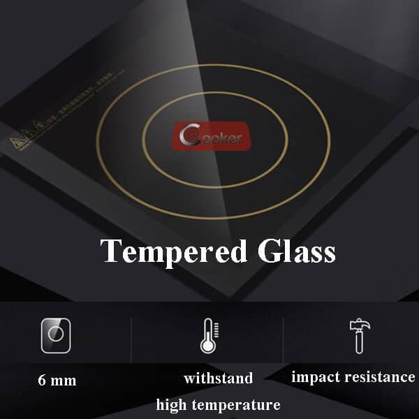 commercial induction cooktop AT Cooker GLASS