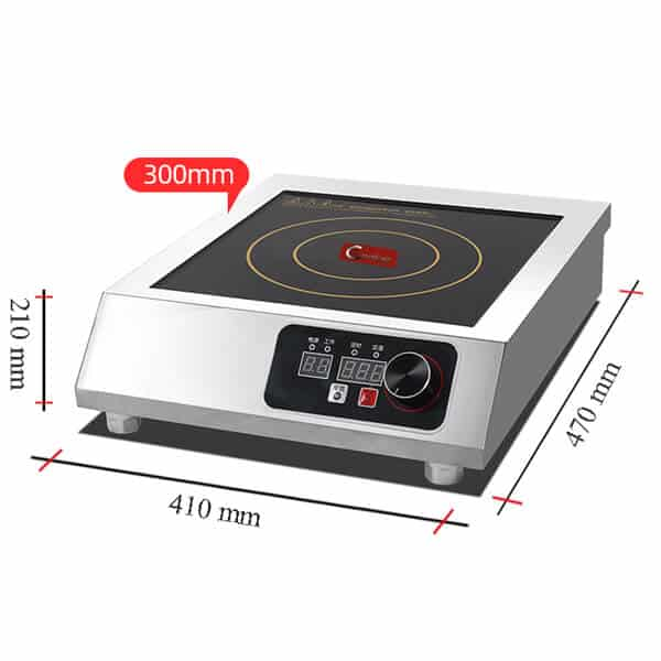 single commercial induction cooktop 3500W AT Cooker Size
