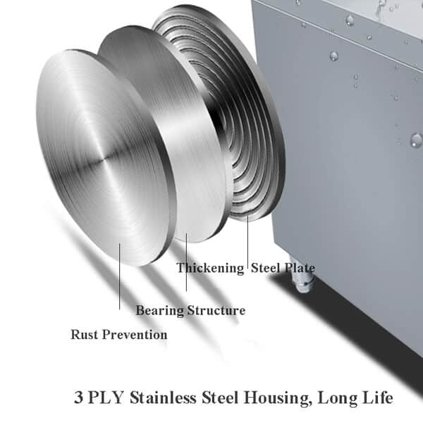 3 PLY stainless steel housing for commercial inductin cooktop freestanding
