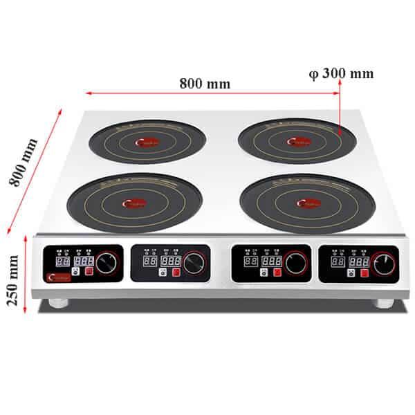 4 commercial induction cooktop BZTA6C4 size 2