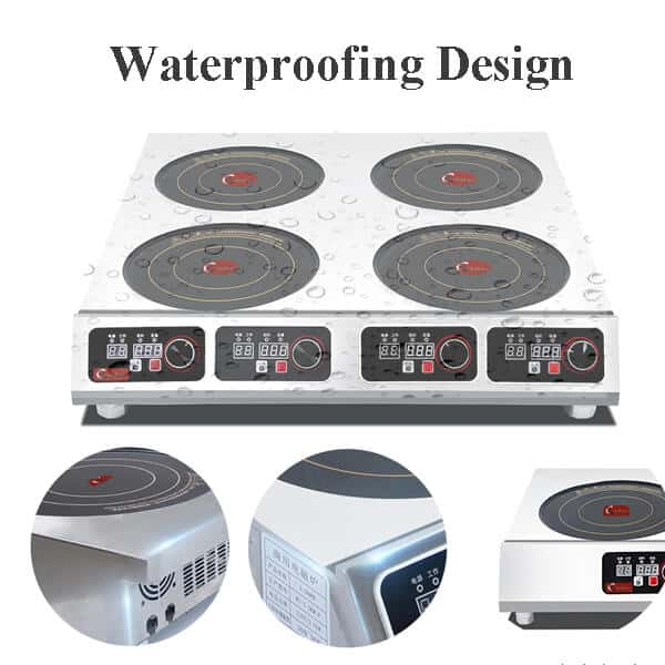 4 commercial induction cooktop BZTA6C4 waterproofing design