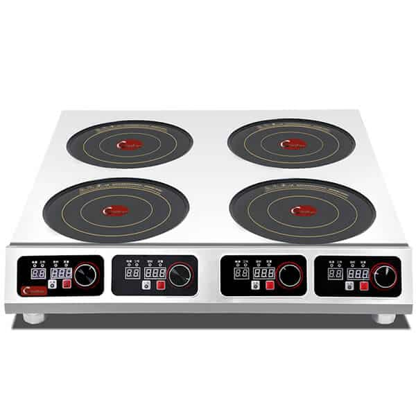 3.5 KW restaurant countertop commercial induction cooktop 4 burner