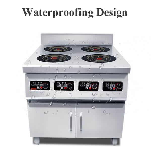 4 commercial induction range BZTAZH4F WATEPROOFING DESIGN