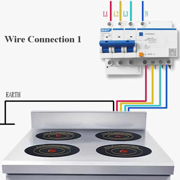 4 commercial induction range BZTAZH4F WIRE CONNECTION
