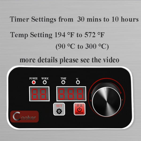 AT Cooker timer and temp setting