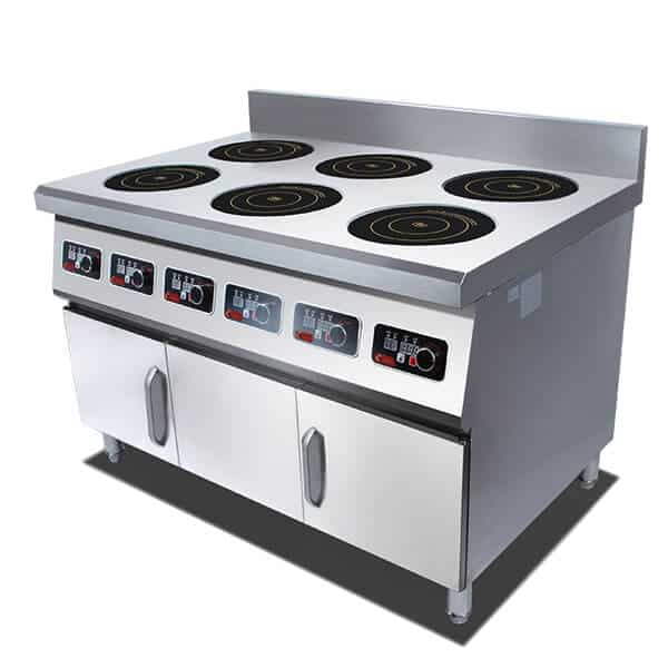 freestanding commercial induction range 6 hobs ATTABZ6A 5kw