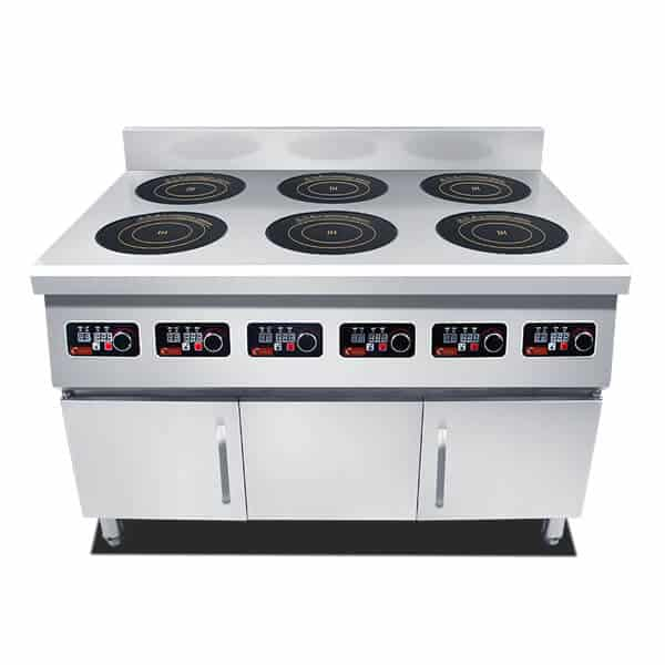 freestanding commercial induction range 6 hobs ATTABZ6A