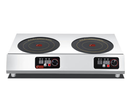 SHPT-A 2C35 double hob commercial induction cooktop 3.5KW