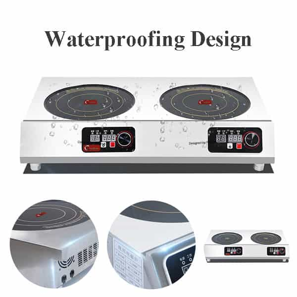 induction cooktop commercial 2 hobs SHPTA 2C WATERPROOFING DESIGN