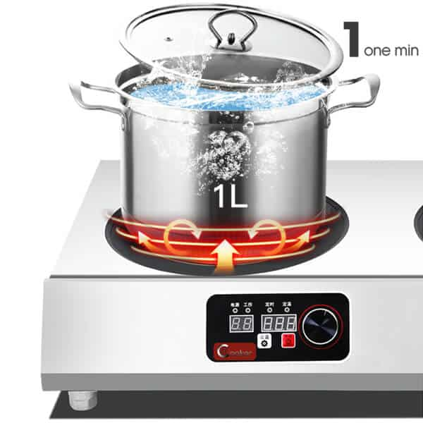 induction cooktop commercial 4 hobs