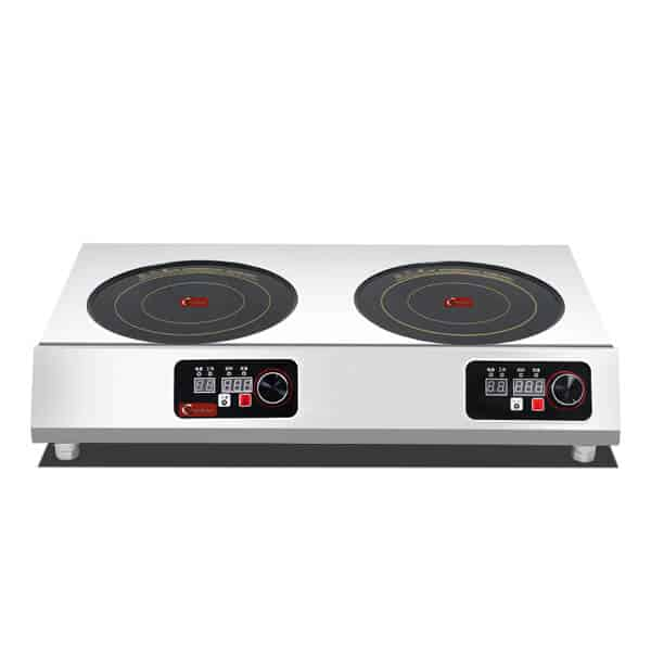2 burners commercial induction cooktop for restaurant and hotels kitchen